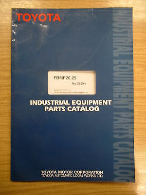 Toyota FBMF20,25 Genuine Toyota Industrial Equipment Parts Catalog