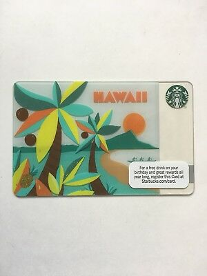 Rare Mint Starbucks Card Hawaii 2010 Diamond Head Sunrise Unswiped Unused