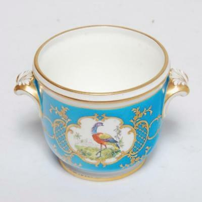 Minton Je Caldwell Antique Cachepot Turquoise Bird Gilt Stamped