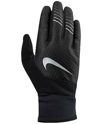 NEW $49 NIKE Mens Therma Fit Run Gloves Black TOUCHSCREEN ATHLETIC WINTER SIZE L