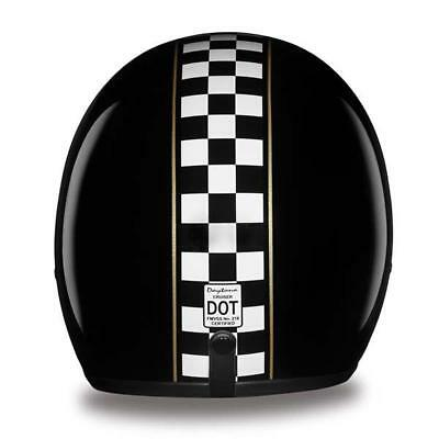 Daytona Low Profile Helmet Cafe Racer Custom Open Face Bobber Chopper Biker