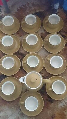 Denby Coffee Set-cups /Saucers,coffee pot