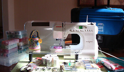 Janome Portable 3/4 Size Jem Platinum 760 Computerized Sewing Machine EXTRAS!!!