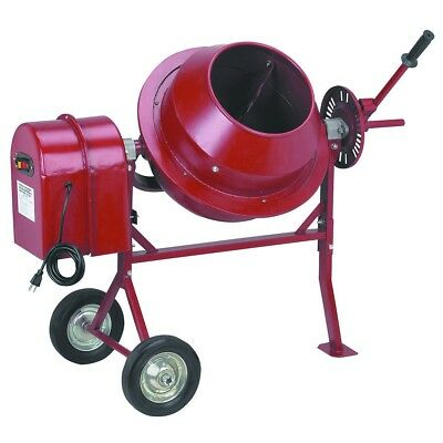 Portable Cement Mixer, Concrete, Stucco, Small Use Construction, 1-1/4 Cubic Ft.