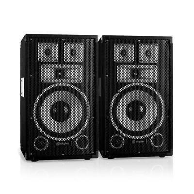 "Paar Dj Pa Lautsprecher 10"" (25Cm) Subwoofer Studio Party Box 100W Rms Sound"