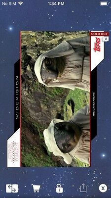 Topps Star Wars Digital Card Trader TLJ The Caretakers Widevision Insert