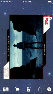 Topps Star Wars Digital Card Trader TLJ Rey On Ahch-To Widevision Insert