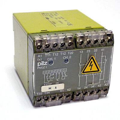Pilz Pnoz 1 1475695 Emergency Stop  Safety Relay Contactor Coil 24Vdc 3.5W 3S 1O