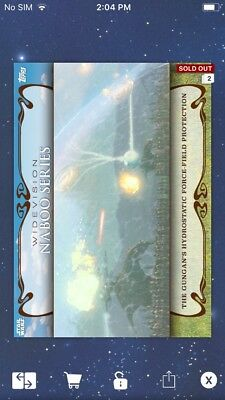 Topps Star Wars Digital Card Trader Force-Field Naboo Widevision Insert
