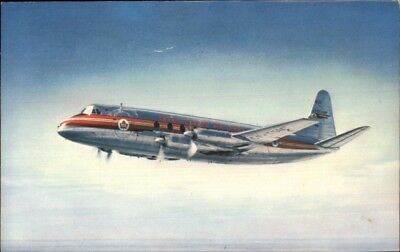 TCA Trans Canada Air Lines Vicsount Airplane Airline Issued Postcard - Used