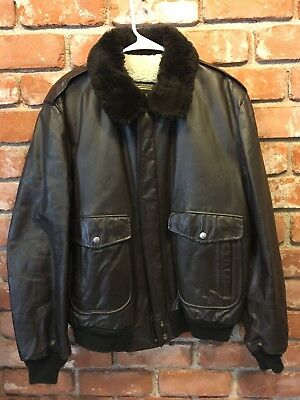 VTG Men's COOPER Type G-1 Flight Bomber Leather Jacket Size 44L Made in the USA