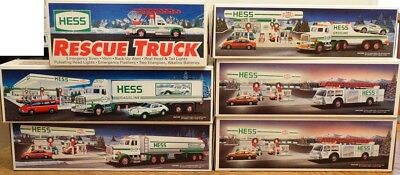 Lot of 6 HESS Trucks 1989 1990 1991 1992 1994 NIB