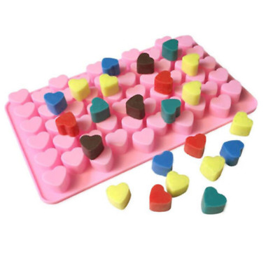 Silicone Mould - 55 Heart Mold Wax Melts Soap Candle Making Craft Set