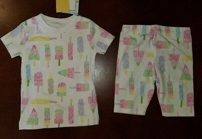 Kissy Kissy Popsicle Toddler Girl Pajamas New 2T Pima Cotton READ