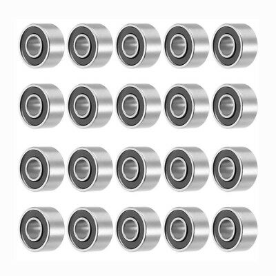 693RS 3mmx8mmx4mm Double Sealed Miniature Deep Groove Ball Bearing 20pcs Z5R3