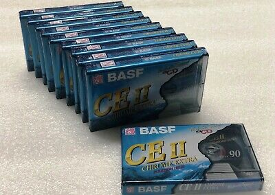LOT OF 10  BASF Chrome Extra II 90 Min IEC II / POSITION HIGH Cassette Tapes NEW