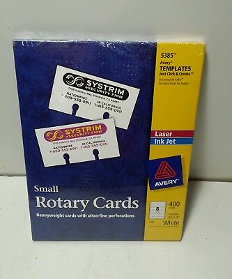 Avery Small Rotary Cards 5385 2 1 6 X 4 Rolodex White Box
