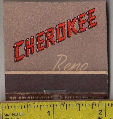vintage book front strike feature matches the Cherokee Casino Reno, Nev.