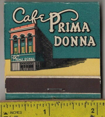 vintage book front strike feature matches the Cafe Primadonna Casino Reno, Nev.