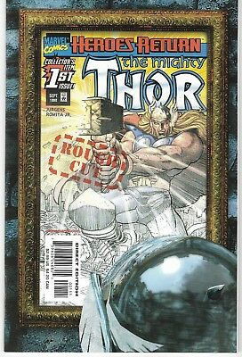 1998 The Mighty Thor Issue #1 Rough Cut Marvel Comic Book Bag/board Vg-Mint Rare