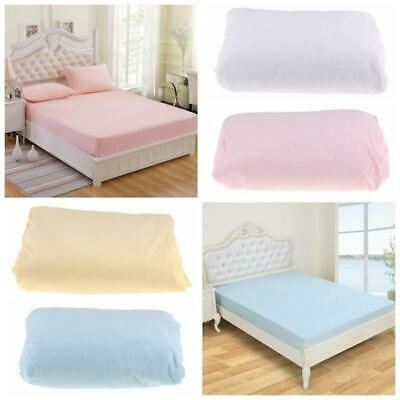 "12"" Deep Quilted Waterproof Mattress Protector Fitted Bedding Cover Sheet"