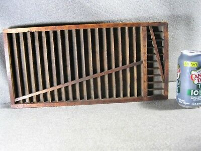 Printer`s Small 11 x 14 In.Type Drawer Tray Letterpress No.3045 Markings