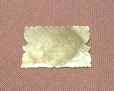 Antique - Carved Mother of Pearl Game Piece - Interesting Shape - Chinese