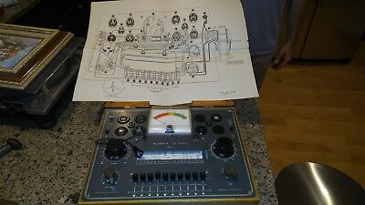 Vintage Heathkit Vacuum Tube Checker TC-2, Radio Equipment Tester