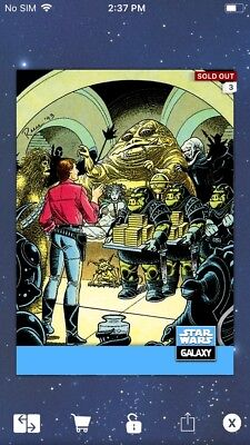 Topps Star Wars Digital Card Trader Galaxy Selects Jabba The Hutt Insert