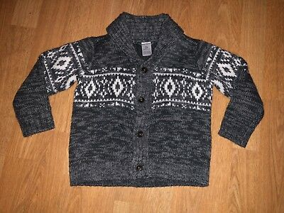 Carter's Toddler Boy Long Sleeved Gray Sweater - Size 2 Toddler - NEW!