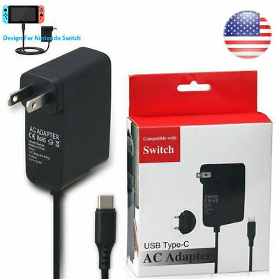 AC Power Adapter Supply Wall & Travel Charger for Nintendo Switch Console Dock