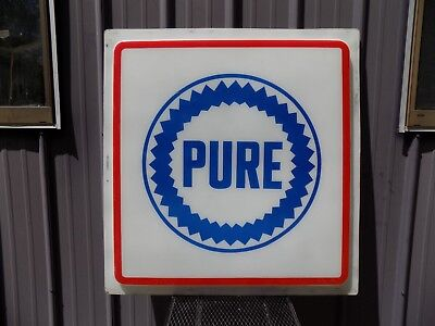 Pure Oil Gas Station Plastic Sign