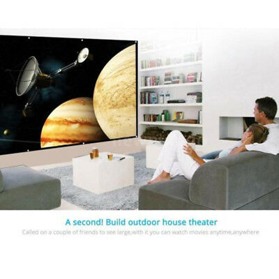 120 inch 16:9 Projection Screen with Frame HD Portable for Home Outdoor Meeting