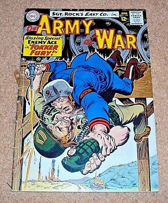 Our Army At War #155 1965 Vg- F Cond Sgt Rock Enemy Ace Silver Age Dc Comics