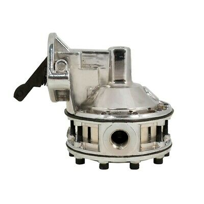 Small Block Chevy Mechanical Racing Fuel Pump 130GPH Chrome 12-16 PSI