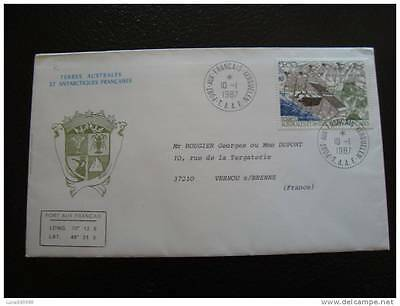 TAAF letter 10/1/87 - stamp stamp - yvert and tellier aerial n°96 (cy8)