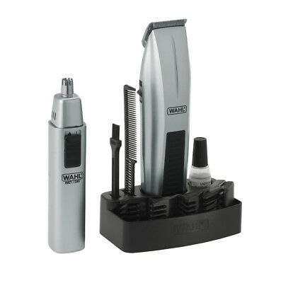 Wahl Mustache & Beard Battery Trimmer BONUS Nose & Ear Trimmer 05606-312