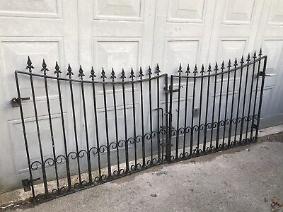 Gates Pair Garden Drive Way Wrought Iron Steel Gates Heavy Duty