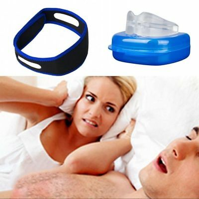 Anti Snore Device Stop Snoring Sleep Aid Mouth Guard Sleep Aid Chin Strap Belt..
