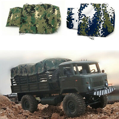 Canvas Hood Cover Cloth Cap For RC Car 1/16 WPL B-24k Militar Vehicle Truck Rope