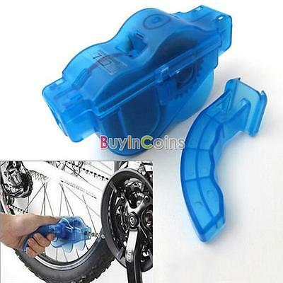 Bike Bicycle 3D Chain Cleaner Machine Brushes Scrubber Quick Clean Tool CA