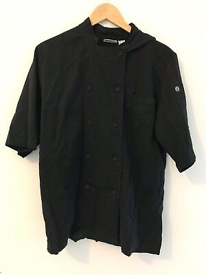 Chef Works Black Double Breasted Chef Coat Size Med