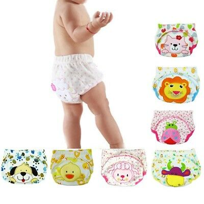 Baby Boy Girl Kids Toilet Pee Potty Training Pants Cloth Diaper Nappy Underwear