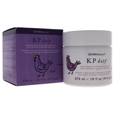 KP Duty Dermatologist Formulated Body Scrub by DERMAdoctor for Women- 16oz Scrub