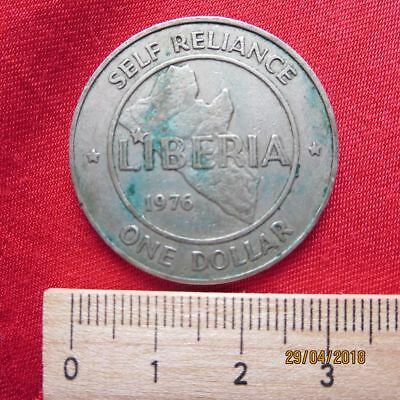 Republic of Liberia 1 One Dollar 1976 - Self-Reliance - III