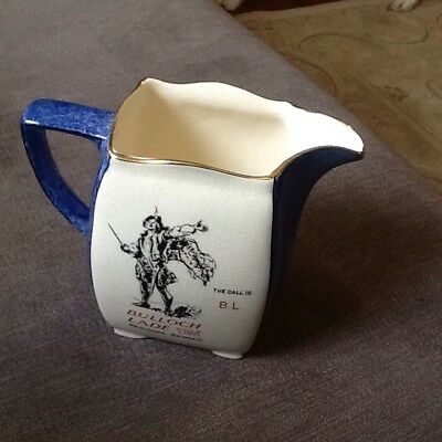 Bulloch Lade Gold Label Pedigree Scotch Whisky Pub Jug Pitcher  c1920-30s RARE