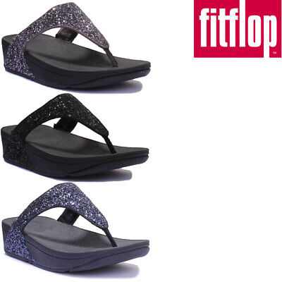 c90d2a56090 FITFLOP GLITTERBALL WOMEN Navy Toe Post Sandals Size UK 3 - 8 ...