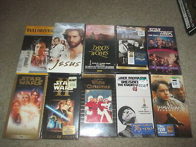 Lot Of 18 Classic Vhs Tapes New Sealed Wizard Of Oz Gone With The Wind Star Wars