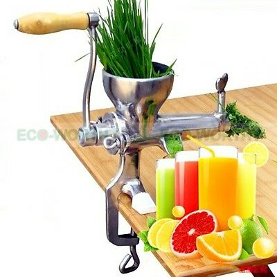 Manual Juice Extractor 304 Stainless Steel Wheat Grass Leafy Vegetables Juicer