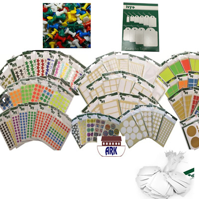 Job lot Ivy /Blick Stickers Clearance ( Stars , Alphabets, Numbers , Labels etc.